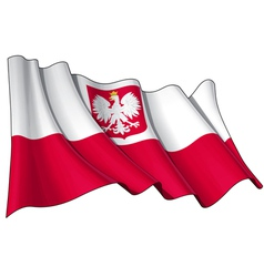 Poland State Flag vector image vector image