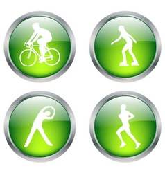 recreation buttons vector image