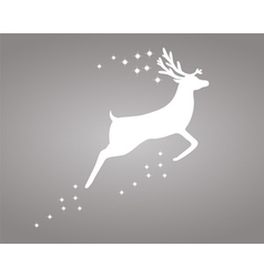 Reindeer with stars vector image vector image