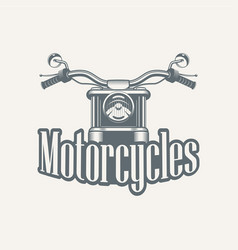 sale and rental of motorcycles vector image vector image