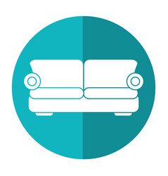 sofa comfor furniture shadow vector image
