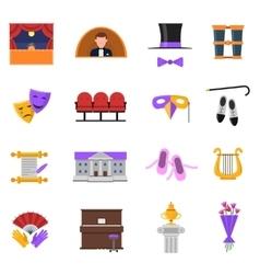 Theatre icons set vector