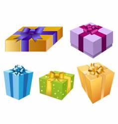 variety of gift box vector image vector image