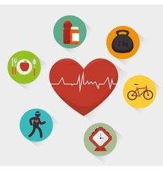 Wellnees healthcare lifestyle vector