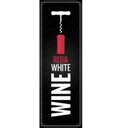 Wine red and white Bottle Logo Background vector image
