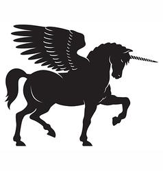 Winged unicorn vector