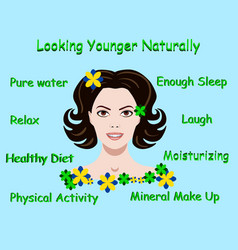 With advice how to stay young vector