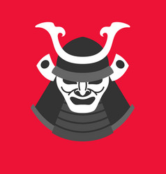 with the armor of a samurai in vector image vector image