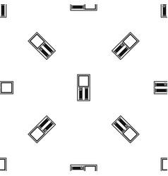 wooden door with glass pattern seamless black vector image vector image