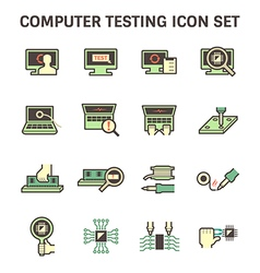 Computer testing vector