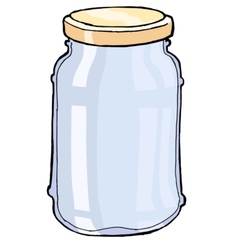 Glass jar vector
