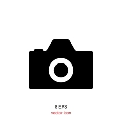 Foto camera simple icon vector image