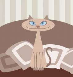 oriental cat vector image