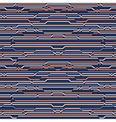 Seamless rounded rope lines brade pattern vector