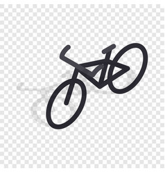 Black bike isometric icon vector