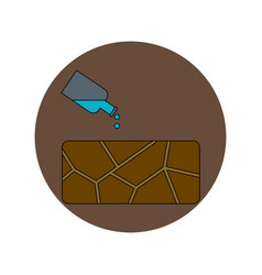 In flat design of cracked vector