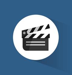 Clapper film movie cinema icon vector