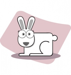 square animal rabbit vector image