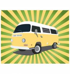 groovy bus vector image