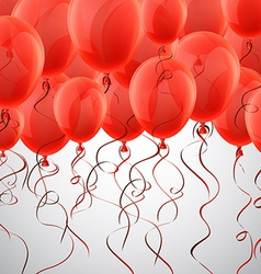 Celebrate red background with balloons vector