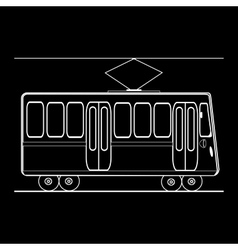Tram city public municipal passenger transport vector