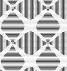 Shades of gray striped four foil vector