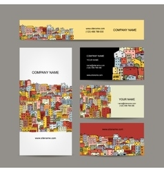 Business cards design cityscape background vector