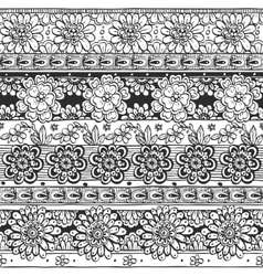 Seamless ornament from flowers in ethnic style vector image