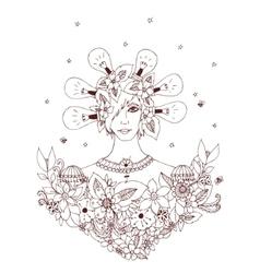 Creative idea - girl of a series vector