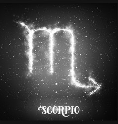 Abstract zodiac sign scorpio on a vector