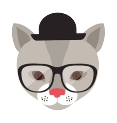 Animal hipster lifestyle vector