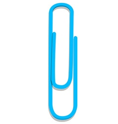 Blue paper clip vector image vector image