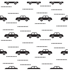 Car cute baby scandinavian seamless pattern vector