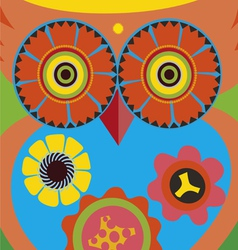 cartoon owl poster vector image vector image