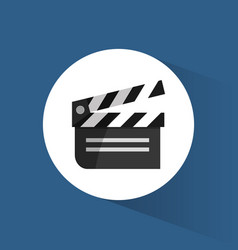 Clapper film movie cinema icon vector