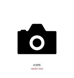 Foto camera simple icon vector image vector image