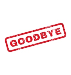 Goodbye text rubber stamp vector