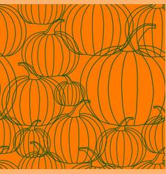 halloween background - line pumpkin vector image