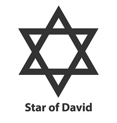 Icon of Star of David symbol Judaism religion sign vector image vector image