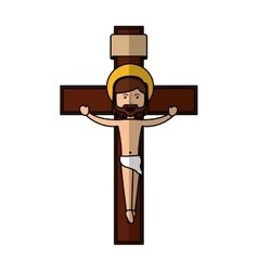 Jesuschrist on the cross avatar character icon vector
