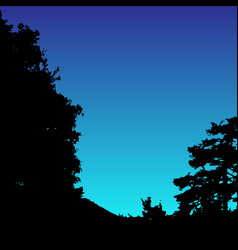 landscape silhouette realistic trees vector image vector image