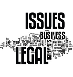 Legal issues at start up text background word vector