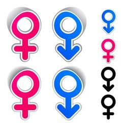 Male female symbols vector