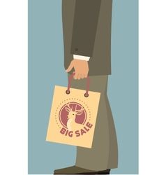 man with shopping bag 380 400 vector image vector image