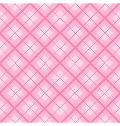 Pink tartan diamond background vector