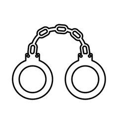 police handcuffs isolated icon design vector image vector image