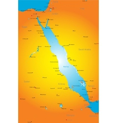 Red sea region vector