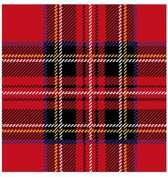 Royal Stewart Tartan Seamless Cloth Pattern vector image