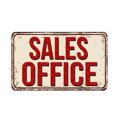 Sales office vintage rusty metal sign vector