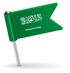 Saudi arabia pin icon flag vector